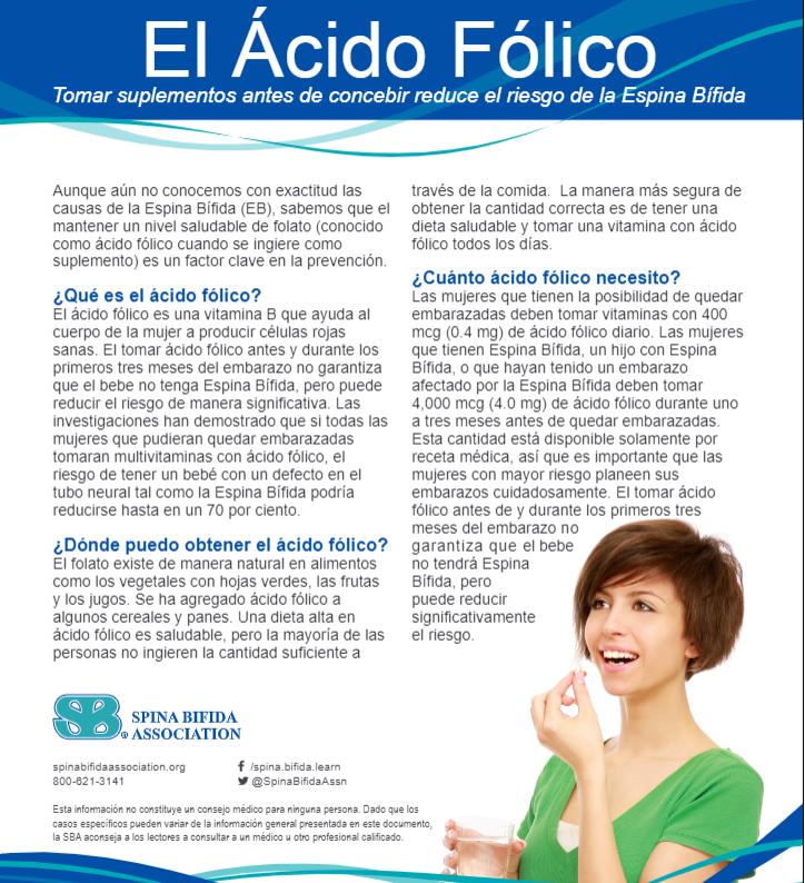 puedo tomar acido folico antes del embarazo