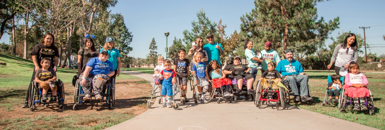 Group of diverse people with Spina Bifida